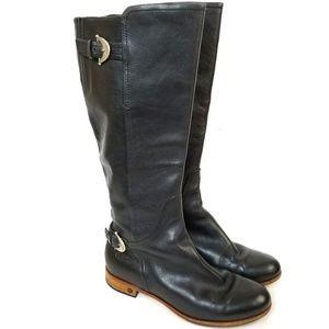 UGG Amberlee Black Riding Boots Sz 8